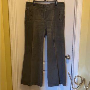 """LONDON JEAN """"Gray"""" Corduroy Pants Size 16 Long"""